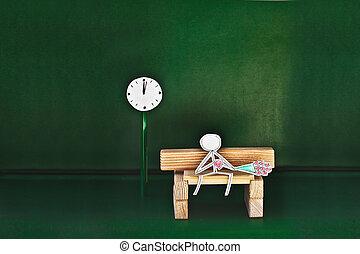 paper man waiting