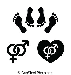 Couple sex, making love icons set - Sex, relationship...
