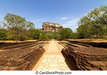 Sigiriya, león,  sri-lanka, fortaleza, roca