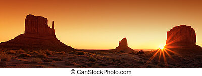 famous Monument Valley at sunrise