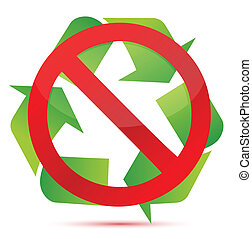 do not recycle illustration design over white background