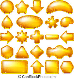 Golden buttons, set