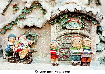 Cildren Christmas choir and Santa Claus. - Christmas choir...