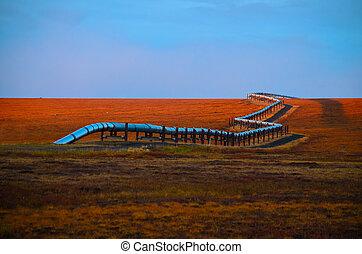 Alaska oil pipeline - view Alaska oil pipeline