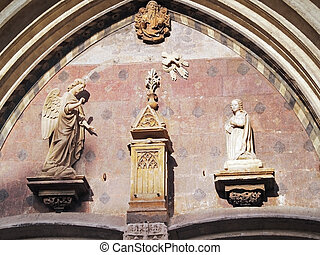 church details in Avignon, France - church details at the...