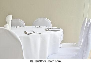 餐館, 晚餐, 确定, 地方, 桌子, 好