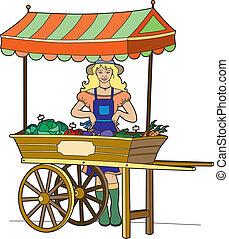 Greengrocer - Etalage organic food market