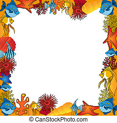 Sealife frame orange