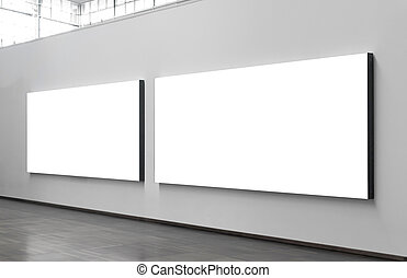City billboards - Two blank billboards situated at a generic...