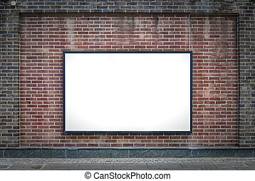 one blank board - one blank billboard attached to a...