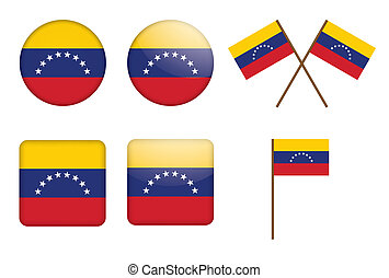 badges with flag of Venezuela