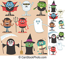 Halloween Characters - Collection of Halloween characters On...
