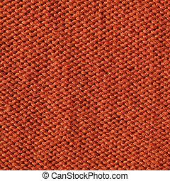 orange knitting fabric  background