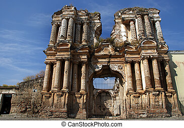 Iglesia de El Carmen church in Antigua - Ruins of the...