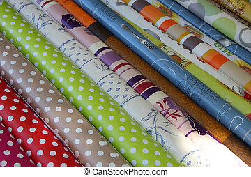 Provencal fabrics - Traditional Provencal patterns on cotton...