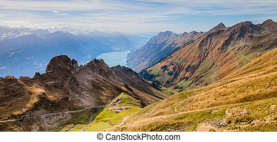 Bernese Alps and Lake Brienz - Lake Brienz and The Bernese...