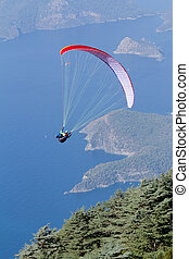 Para gliding - para gliding over Turkey