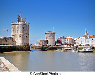 Harbour of La Rochelle, France - the harbour old harbor of...