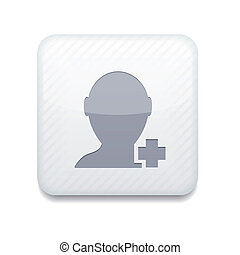 Vector white Add friend icon. Eps10. Easy to edit