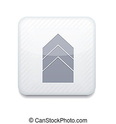 Vector white arrow icon Eps10 Easy to edit