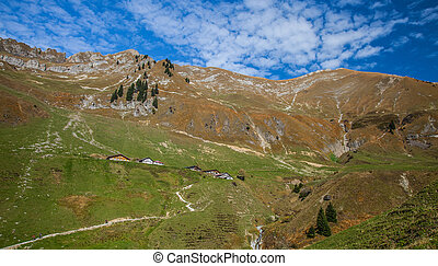Bernese Alps - Hiking Paths - Hiking path at Bernese Alps,...