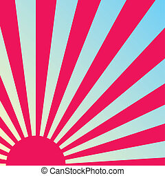 Abstract retro sunrise background. Vector.
