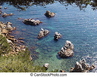 Beautiful landscape at Lloret de Mar - christal water near...