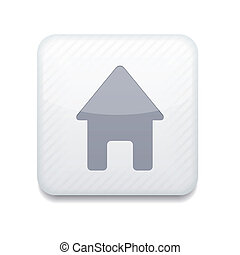 Vector white house icon. Eps10. Easy to edit