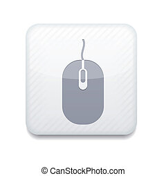 Vector version computer mouse icon Eps 10 illustration Easy...