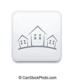 Vector version. Real estate icon. Eps 10 illustration. Easy...