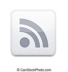 Vector white rss icon Eps10 Easy to edit