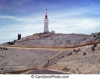 Mont Ventoux, Provence, France - Summit area of Mont Ventoux...