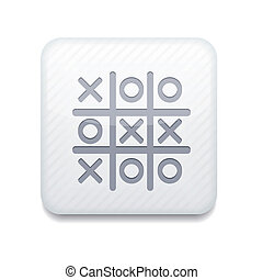 Vector white Tic tac toe icon. Eps10. Easy to edit