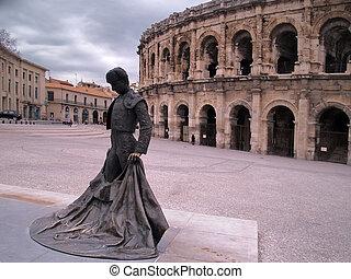 Roman Coliseum - Nimes, France - Roman Coliseum -les Arenes...