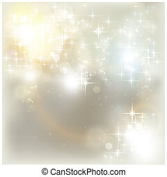 Silver Christmas lights - Shiny stars and light effects like...