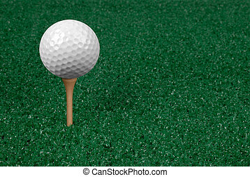 Golf ball on the green - Golf ball on the putting green with...