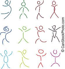 people sketch set