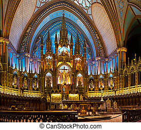 The Notre-Dame Basilica in Montreal (French: Basilique...