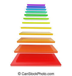 Staircase ladder made of rainbow colored steps