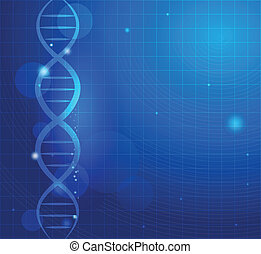 Abstract gene chain background Can be used as medical,...