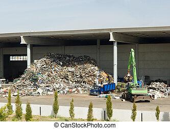 reciclagem, planta