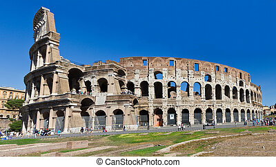 Colosseo Roma panorama Italia - Colosseum -The Flavian...