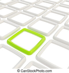 Abstract background of squares
