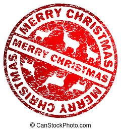 Merry Christmas stamp. EPS 8