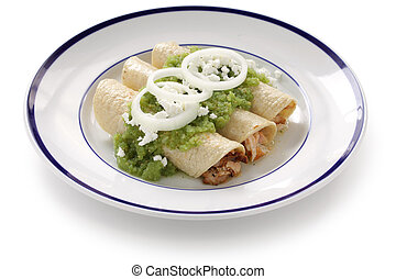 chicken enchiladas verde - mexican cuisine