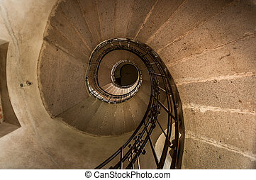 Round stairs in a church