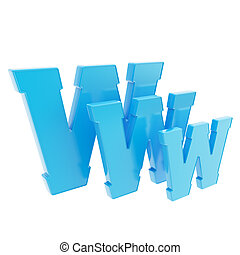 World wide web www letter symbol isolated