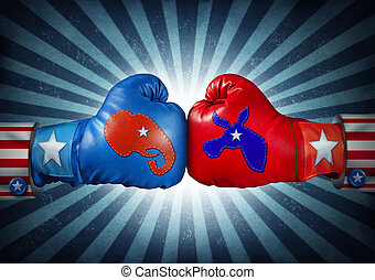 American Election - American election campaign fight as...