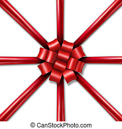 Star Burst Holiday Ribbon - Star burst Christmas holiday red...