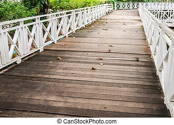 bridge pathway - Wooden bridge pathway